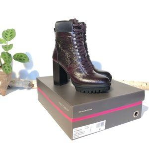 Vince Camuto Ermania Lace Up Combat Booties, 8 1/2